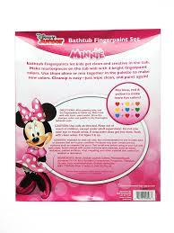 Mickey Mouse Bathroom Set Amazon by Amazon Com Minnie Mouse Bath Tub Finger Paint Set Toys U0026 Games