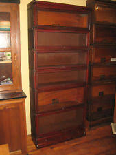 Sligh Lowry Desk Leather Top by Antique Barrister Bookcase Ebay