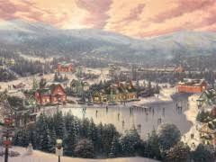 Thomas Kinkade Christmas Tree Cottage by Christmas Paintings U0026 Art Thomas Kinkade Memphis Gallery