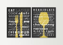 Kitchen Decor Signs Set Dining Room Wall Art