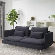 söderhamn 3er sofa samsta dunkelgrau ikea deutschland