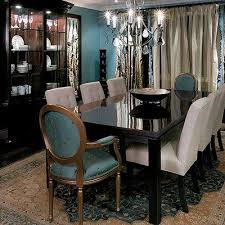 Teal Dining Room Chairs Imposing On Other Within Kind Of Like The Idea Two In Accent