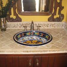 Mexican Tile Sinks For Bathrooms | Cheap Mexican Tile Sale | Spanish ... Ideas For Using Mexican Tile In Your Kitchen Or Bath Top Bathroom Sinks Best Of 48 Fresh Sink 44 Talavera Design Bluebell Rustic Cabinet With Weathered Wood Vanity Spanish Revival Traditional Style Gallery Victorian 26 Half And Upgrade House A Great Idea To Decorate Your Bathroom With Our Ceramic Complete Example Download Winsome Inspiration Backsplash Silver Mirror Rustic Design Ideas Mexican On Uscustbathrooms