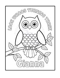 Personalized Coloring Sheets Kids At Pages