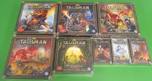 TALISMAN Board Game 4th Edition Base And Expansion Lot The