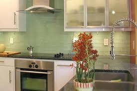 green subway tile kitchen backsplash lime green glass subway tile