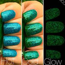 Mermaid Blue To Green Color Changing AND Glow In The Dark Nail Polish