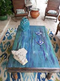 From Weathered To Coastal Patio Table Outdoor Furniture Painted Repurposing Upcycling