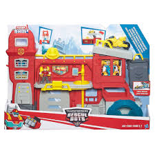 100 Rescue Bots Fire Truck Playskool Heroes Transformers Griffin Rock House Headquarte