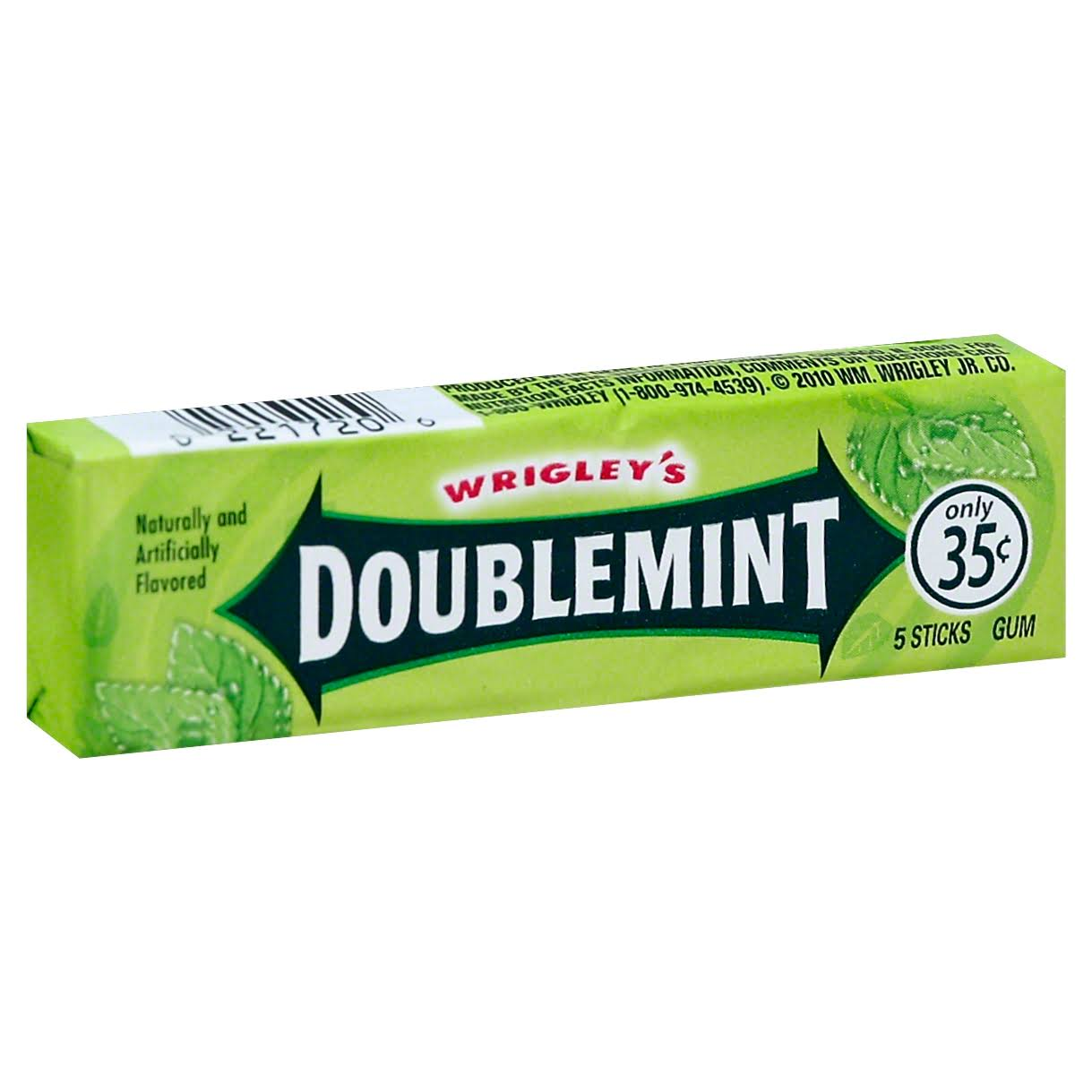Wrigley's Doublemint Chewing Gum - 5 Sticks