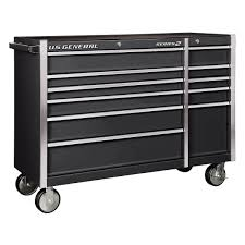 100 Service Truck Tool Drawers 56 In Double Bank Black Roller Cabinet