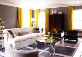 Curtains Yellow And Gray Kitchen Decor Beautiful Living Room