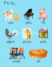 Many words begin with letter P Royalty Free Stock Image Storyblocks