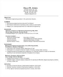 Mechanical Engineer Resume Summary Years Experience In For Fresher