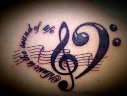 Music Tattoo Designs Ideas Pictures Gallery Online Stylez
