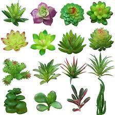 yuccer künstliche sukkulenten 16 stück künstliche pflanze klein deko pflanze zum fensterbank wohnzimmer balkon büro plastikpflanzen b