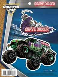 100 Grave Digger Monster Truck Videos Jam 2 Stickers Decals For Cell Etsy