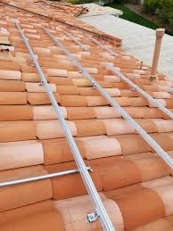 solar panel install on a clay tile roof solar installs