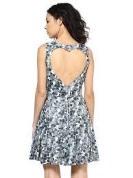 roving mode women u0027s sleeveless floral print heart cut out dress multi