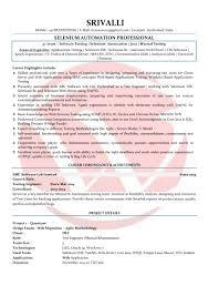 Selenium Sample Resumes, Download Resume Format Templates!