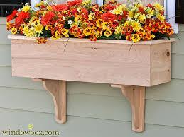 Traditional Cedar Wood Window Box Planter