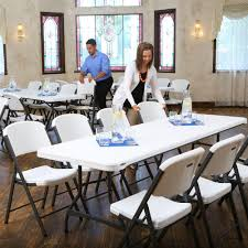 Cosco Folding Chairs And Table by Lifetime 36 Piece White Folding Table And Chair Set 80410 The