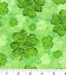 Decorator Pattern C Logging by St Patrick U0027s Day Fabric 43 U0027 U0027 Shamrock Swirl Joann