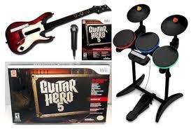 Smashing Pumpkins 1979 Bass Tab by New Nintendo Wii Guitar Hero 5 Band Set Kit W Drums Mic Guitar