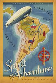 South America Happy Life Wonders Travel Agency Ad Vintage Retro Decorative Poster DIY Wall Stickers Posters Home Decor Gift In From