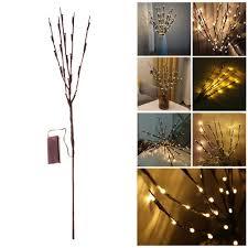 100 Tree Branch Bookshelves Battery Powered 20 LED Lamp Christmas Party Garden Decor Fairy String Light