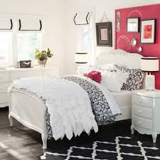 Pink Painted Headboard Walls With Two Framed Wall Art Pop Up This White Bedroom