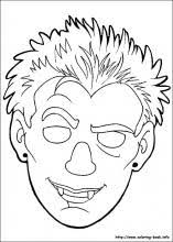 Halloween Masks Coloring Pages On Coloring Book