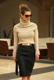 Outfit Idea With A Pencil Skirt