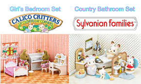 sylvanian families calico critters girl s bedroom set and