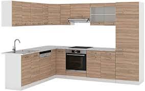 vicco küchenzeile r line eckküche winkel küche einbauküche sonoma eiche