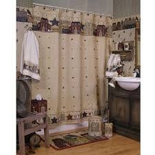 Country Rustic Curtains Primitive Bathroom Shower Curtain Gallery And For Images