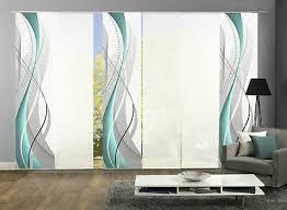 6er set flächenvorhang deko blickdicht wuxi höhe 245 cm