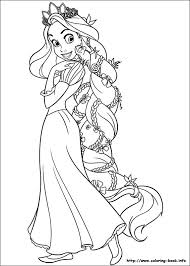 Princess Rapunzel Coloring Pages Free Download Disney