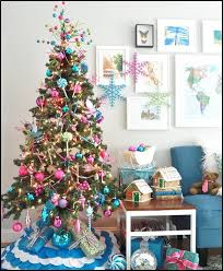 Bright Colored Christmas Tree Decorations 10