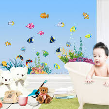 Finding Nemo Bathroom Theme by Underwater Finding Nemo Colorful Fishes Aquatic Plants Cartoon