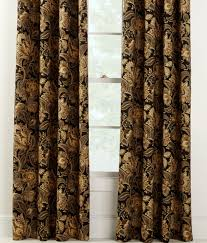 Jacobean Style Floral Curtains by Paisley Jacobean Lined Rod Pocket Curtains Country Curtains