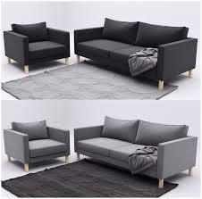 Karlstad Sofa Cover Isunda Gray by Karlstad Corner Sofa Isunda Gray Okaycreations Net