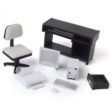 ensemble ordinateur de bureau 1 12 dollhouse miniature meubles ordinateur chaise de bureau