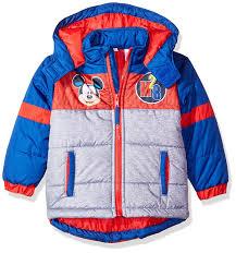 amazon com disney boys u0027 mickey mouse puffer coat clothing