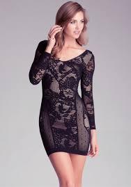 turmec bebe black lace strapless dress