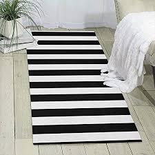 streifen schwarz weiß druckbereich teppich läufer teppich