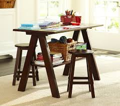 Hudson Trestle Game Table and Stools