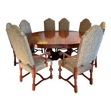 Jacobean Table + Eight Chairs Dining Set 6 Antique Berkey Gay Depression Jacobean Walnut Ding Room Table And Four Chairs With Bench Luxury Wood Set Of Eight Solid Carved Oak 1930s Or Gothic Style Kitchen Design Sets This Is Fantastic A Superb Large Oak Refectory Table Size 121 X 242cm Togethe Lovely Top Result 50 Pair Ethan Allen Royal Charter Side Early 20th Century Revival Lot 54 Mahogany Six Jacobean Chair Artansco