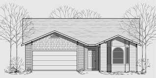 Wide House Plans by One Story House Plans Narrow Lot House Plans 40 Wide House Plan