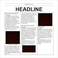 Editable Elementary School Newspaper Template
